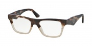 Prada PR 20QV Eyeglasses Eyeglasses - ROZ101 Brown Havana Gradient Brown