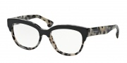 Prada PR 21QV Eyeglasses Eyeglasses - ROK101 Top Black / White Havana