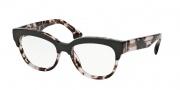 Prada PR 21QV Eyeglasses Eyeglasses - ROL101 Top Brown / Pink Havana