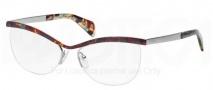 Prada PR 64QV Eyeglasses Eyeglasses - NAG101 Havana Spotted Blue