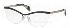 Prada PR 64QV Eyeglasses Eyeglasses - QE3101 Black