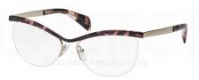 Prada PR 64QV Eyeglasses Eyeglasses - ROJ101 Pink Havana