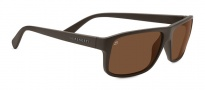 Serengeti Claudio Sunglasses Sunglasses - 7952 Sanded Dark Brown / Polarized Drivers