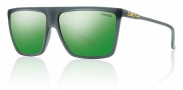 Smith Optics Cornice Sunglasses Sunglasses - Matte Smoke / Green Sol-X Mirror