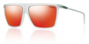 Smith Optics Cornice Sunglasses Sunglasses - Matte Crystal / Red Sol-X Mirror