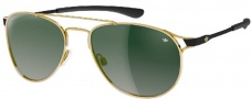 Adidas Kopenhagen Ah62 Sunglasses Sunglasses - 6051 Gold Shiny / Black Green