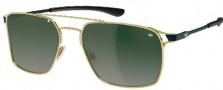 Adidas Amsterdam Ah63 Sunglasses Sunglasses - 6051 Gold Shiny Black / Green
