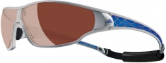 Adidas Tycane Pro A189L Sunglasses - 6053 Silvermet / Blue