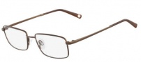 Flexon Benedict 600 Eyeglasses Eyeglasses - 210 Shiny Brown