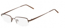 Flexon 672 Eyeglasses Eyeglasses - 210 Coffee