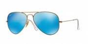 Ray Ban RB3025 Sunglasses Polarized 58 Size Sunglasses - 112/4L Matte Gold / Blue Mirror Polarized