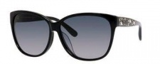 Jimmy Choo Chanty/F/S Sunglasses Sunglasses - 029A Black (HD gray gradient lens)