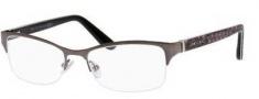 Jimmy Choo 100 Eyeglasses Eyeglasses - 06US Dark Ruthenium Python Gray