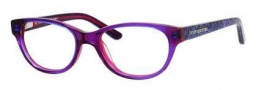 Juicy Couture Juicy 913 Eyeglasses Eyeglasses - 0JMP Plum Crystal Navy