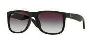Ray-Ban 4165F Sunglasses - Justin Sunglasses - 622/8G Rubber Black / Gradient Gray