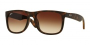Ray-Ban 4165F Sunglasses - Justin Sunglasses - 856/13 Light Havana Rubber / Gradient Brown