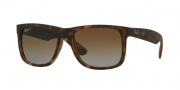 Ray-Ban 4165F Sunglasses - Justin Sunglasses - 865/T5 Havana Rubber / Polar Brown Gradient