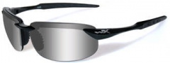 Wiley X WX Tobi Sunglasses Sunglasses - ACTOB04 Gloss Black / Polarized Silver Flash Lens