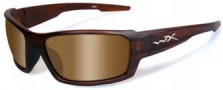 Wiley X WX Rebel Sunglasses Sunglasses - acreb04 Matte Layered Tortoise / Polarized Bronze Lens