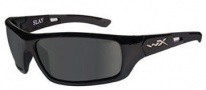 Wiley X WX Slay Sunglasses Sunglasses - acsla04 Gloss Black / Polarized Grey