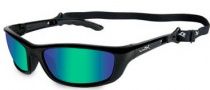 Wiley X WX P-17 Sunglasses Sunglasses - p-17gm Gloss Black / Polarized Emerald Green Lens