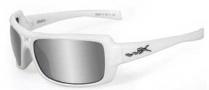Wiley X WX Static Sunglasses Sunglasses - Pearl White / Silver Flash Lens