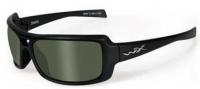 Wiley X WX Static Sunglasses Sunglasses - Matte Black / Polarized Green Lens