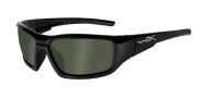 Wiley X WX Censor Sunglasses Sunglasses - Gloss Black / Polarized Green Lens