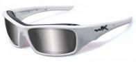 Wiley X Wx Arrow Sunglasses Sunglasses - CCARR04 Matte White / Polarized Grey Silver Flash Lenss