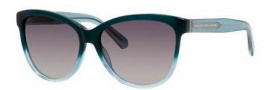 Marc by Marc Jacobs MMJ 411/S Sunglasses Sunglasses - 05XO Green Aqua (DX dark gray shaded lens)