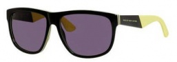 Marc by Marc Jacobs MMJ 417/S Sunglasses Sunglasses - 05WV Black Yellow Beige (Y1 gray lens)