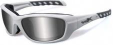 Wiley X Wx Gravity Sunglasses Sunglasses - CCGRA02 Matte White / Grey Silver Flash Lens