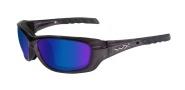 Wiley X Wx Gravity Sunglasses Sunglasses - CCGRA04 Black Crystal / Polarized Blue Mirror Lens
