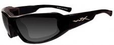 Wiley X Wx Jake Sunglasses Sunglasses - CCJAK01 Gloss Black / Grey Lens