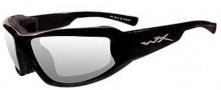Wiley X Wx Jake Sunglasses Sunglasses - CCJAK03 Gloss Black / Clear Lens