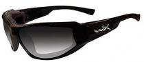 Wiley X Wx Jake Sunglasses Sunglasses - CCJAK05 Gloss Black / LA (light adjusting) Grey Lens