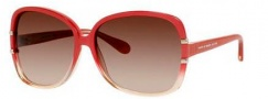 Marc by Marc Jacobs MMJ 428/S Sunglasses Sunglasses - 07XS Transparent Pearl Red (JD brown gradient lens)