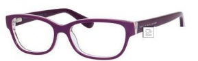 Marc by Marc Jacobs MMJ 591/N Eyeglasses Eyeglasses - 00JY Purple Brown Striped
