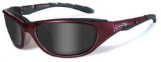 Wiley X Wx Airrage Sungasses Sunglasses - 691  Plum / Smoke Grey Lens