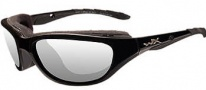 Wiley X Wx Airrage Sungasses Sunglasses - 693 Gloss Black / Clear Lens