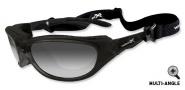 Wiley X Wx Airrage Sungasses Sunglasses - 696 Gloss Black / LA (light adjusting) Grey Lens