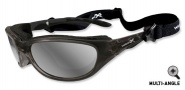 Wiley X Wx Airrage Sungasses Sunglasses - 697 Crystal Metallic / Polarized Silver Flash Lens