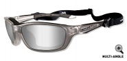 Wiley X Wx Brick Sunglasses Sunglasses - 855 Crystal Metallic / Silver Flash Lens