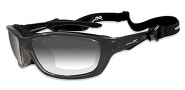 Wiley X Wx Brick Sunglasses Sunglasses - 856 Metallic Black Frame / LA (light adjusting) Smoke Grey Lens