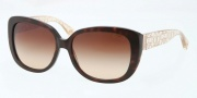 Coach HC8076 Sunglasses Laurin Sunglasses - 5152T5 Dark Tortoise Brown Crystal / Brown Gradient Polarized