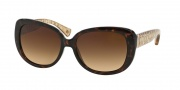 Coach HC8076 Sunglasses Laurin Sunglasses - 515213 Dark Tortoise Brown Crystal / Brown Gradient