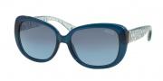 Coach HC8076 Sunglasses Laurin Sunglasses - 515317 Blue Ice Blue Crystal / Gray Blue Gradient