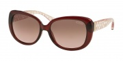 Coach HC8076 Sunglasses Laurin Sunglasses - 515414 Burgundy Pink Crystal / Brown Rose Gradient