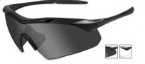 Wiley X WX Vapor Sunglasses Sunglasses - 3501 Matte Black / Smoke Grey, Clear