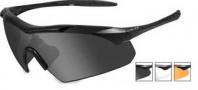 Wiley X WX Vapor Sunglasses Sunglasses - 3502 Matte Black / Grey, Clear, Rust